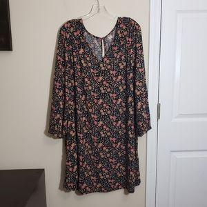 Old Navy Floral V-neck Smock Dress